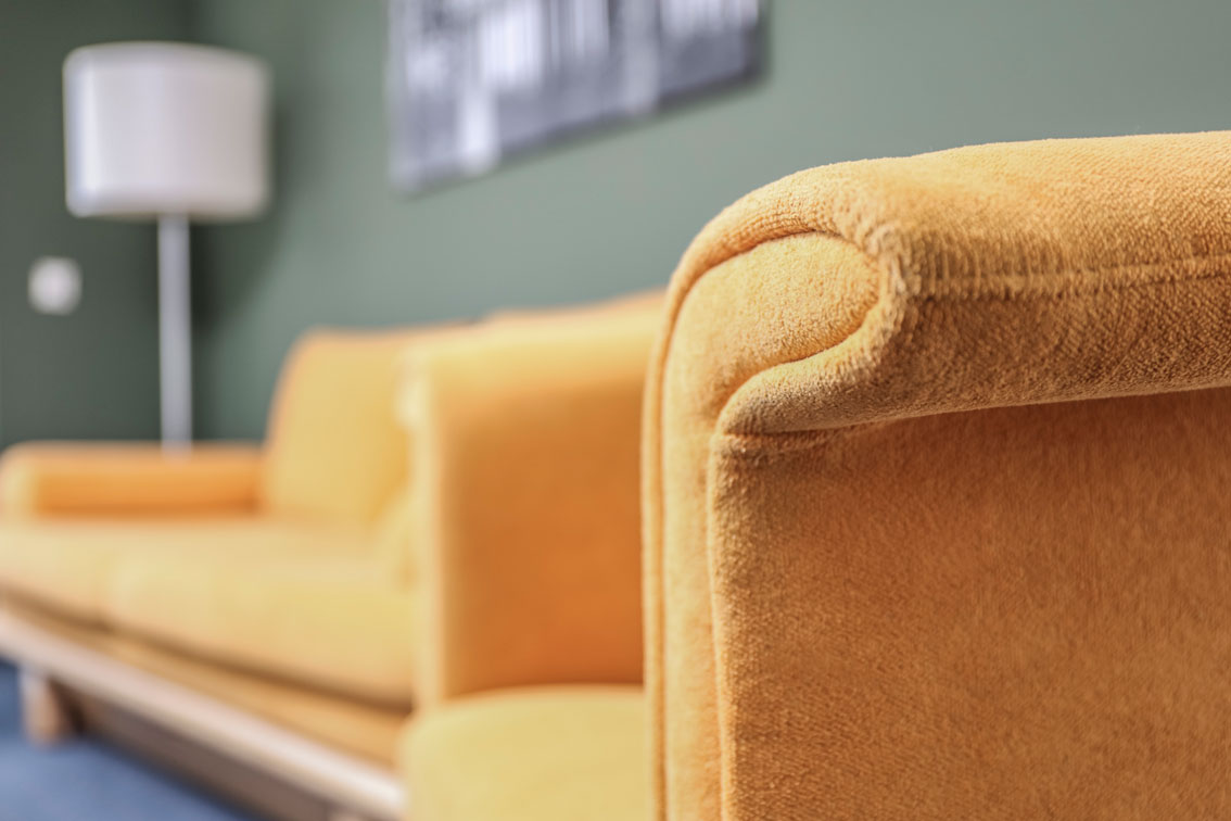 Close-up of a high-quality couch