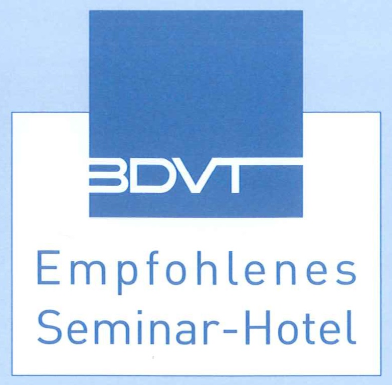 logo recommended seminar hotel awarded by the professional association for trainers, consultants and coaches (BDVT)