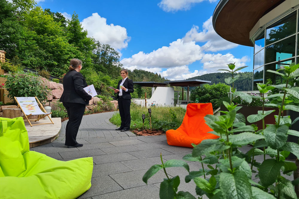Conference terrace.
