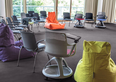 Selection of chairs for conferences.