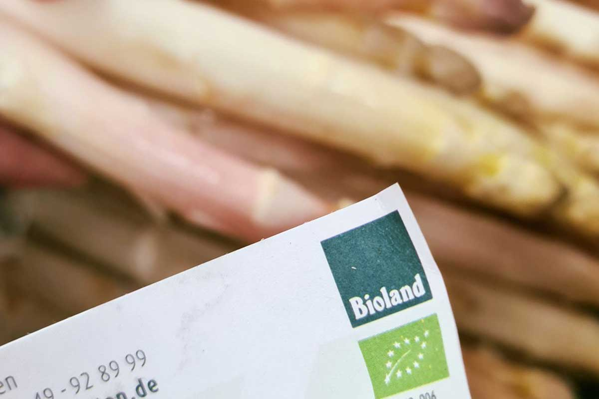 A bioland certificate accredting the quality of our organic food at the hotel SCHWARZWALD PANORAMA