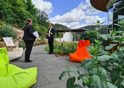 A beautiful terrace of the hotel SCHWARZWALD PANORAMA where the resonance culture can be embraced
